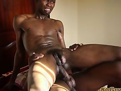 Adolescent african man-lovers bareback