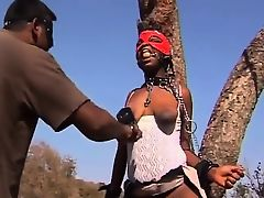 Ache African model gets exploited in outdoor obsession action