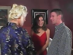 Whore getting screwed by the swingers duo