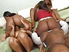 Balck BBW group orgy