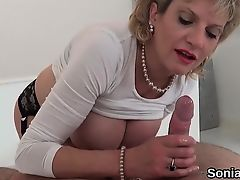 Cheating english milf lady sonia discloses her giant milk cans